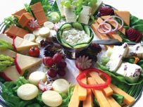 Cheese board food platter