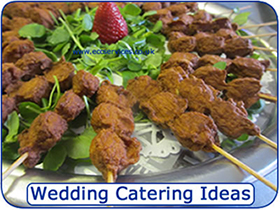 Wedding catering ideas and menus